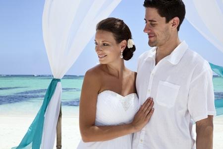 semiformal beach wedding